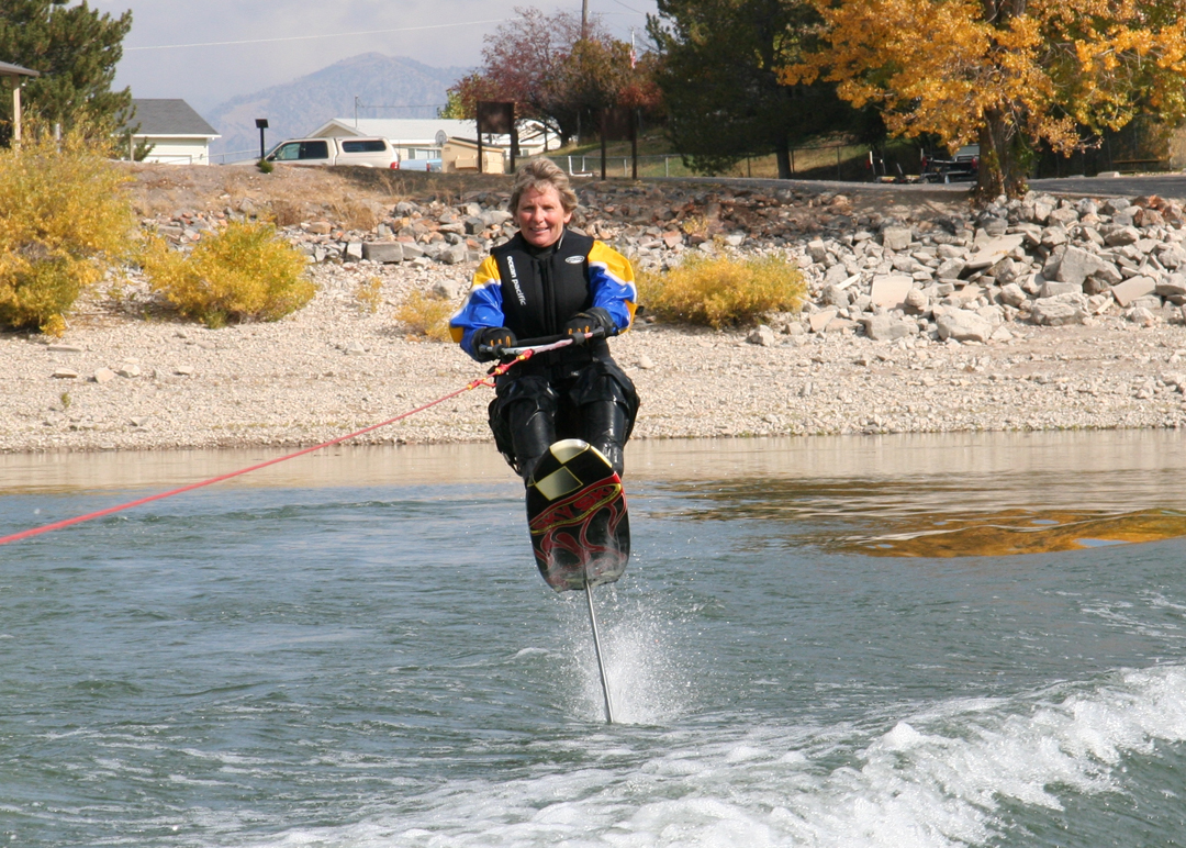Ilene Christensen (Call Center Plus Owner) - Enjoying a Sky Ski Adventure