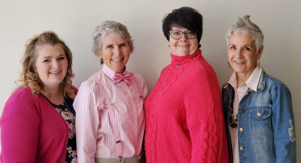 CCP's Management Team: From left to right, Kelsie, Ilene, MaryEllen and Debbie